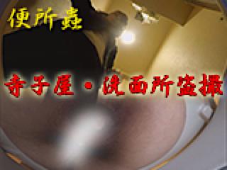 オマンコ丸見え:寺子屋・洗面所盗SATU:おまんこパイパン