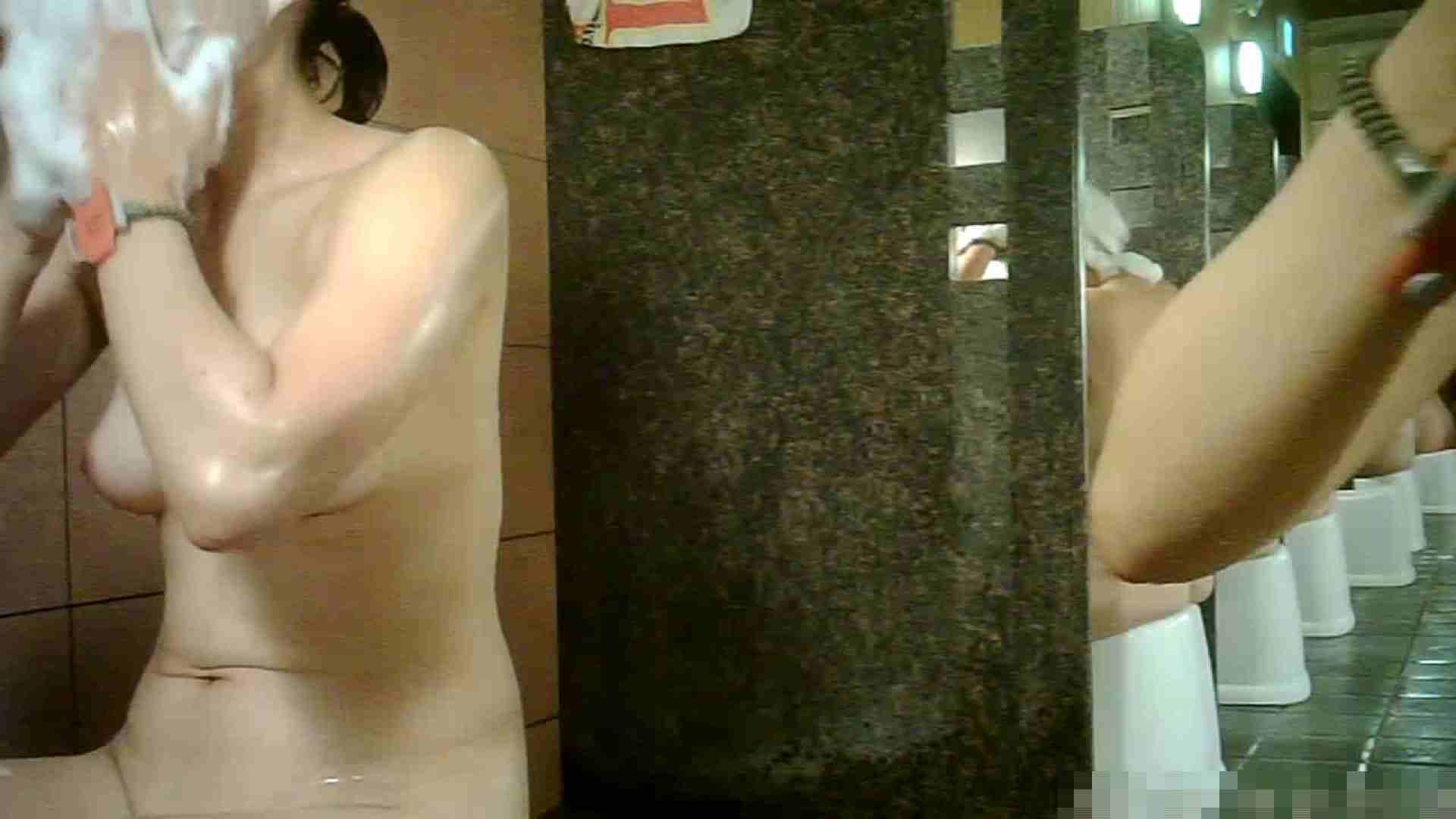 No.1 洗い場!!とっても綺麗な身体のお女市さん、乳首も綺麗です。 女湯 戯れ無修正画像 98画像 93