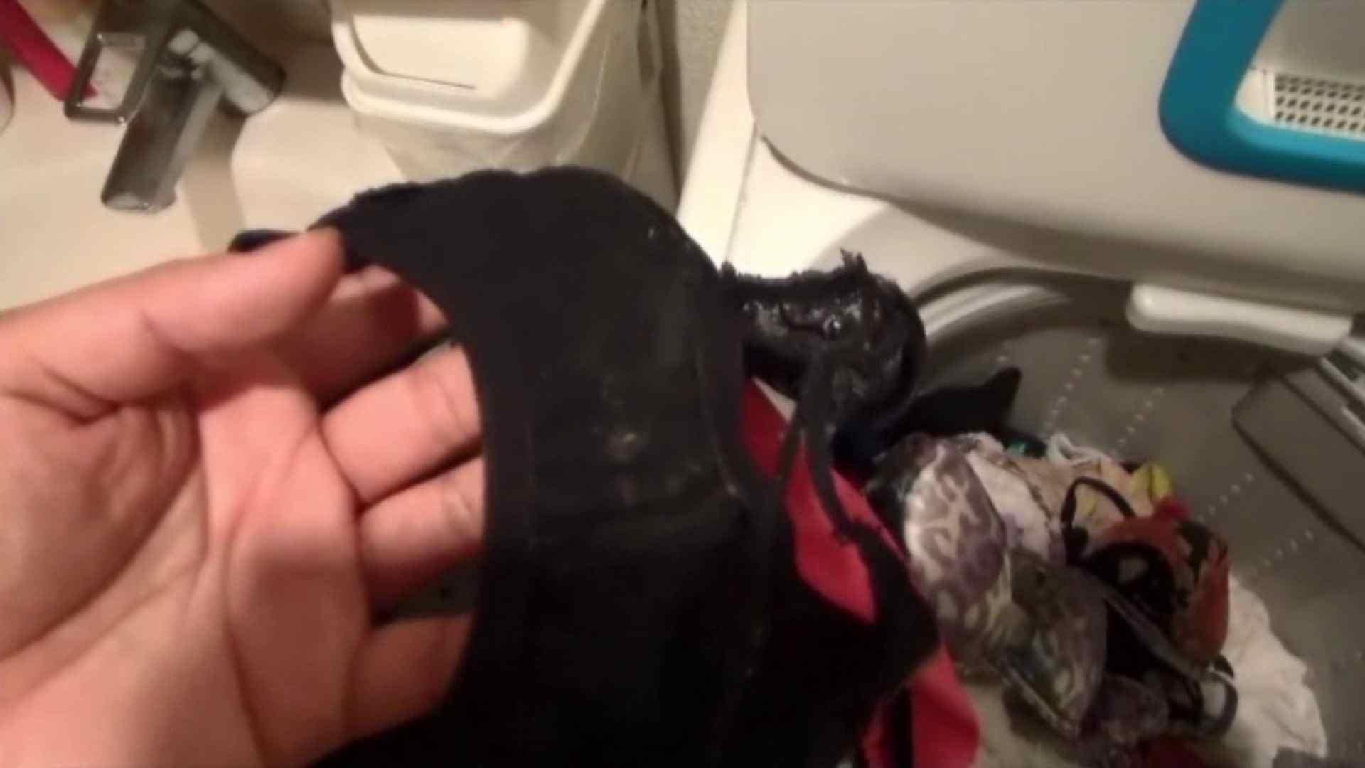 【01】ベランダへ侵入し、真っ先に洗濯機へ直行しました。 お姉さん攻略  110画像 108
