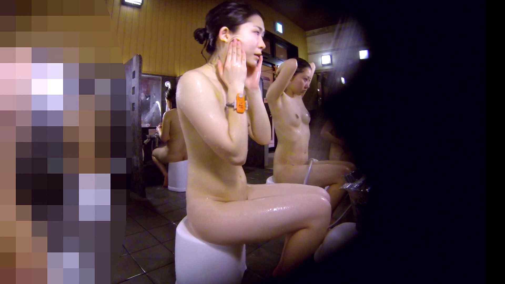 洗い場!眉しっかりの和風美人、奥の嬢も気になります! 女湯  111画像 7