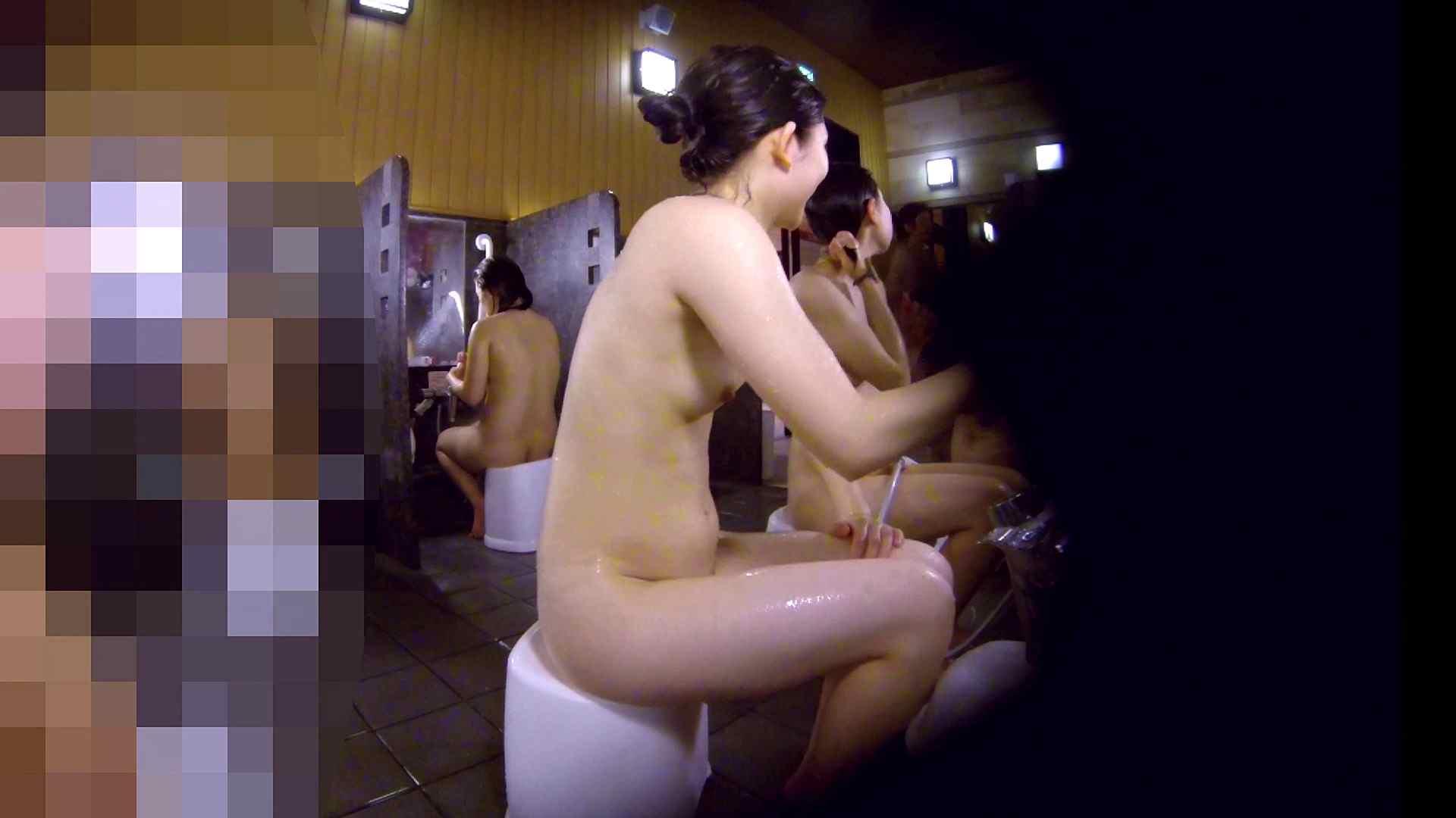 洗い場!眉しっかりの和風美人、奥の嬢も気になります! 美肌 性交動画流出 111画像 10