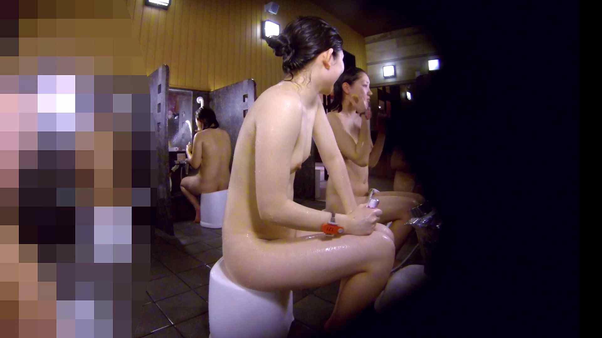 洗い場!眉しっかりの和風美人、奥の嬢も気になります! 美乳 すけべAV動画紹介 111画像 11
