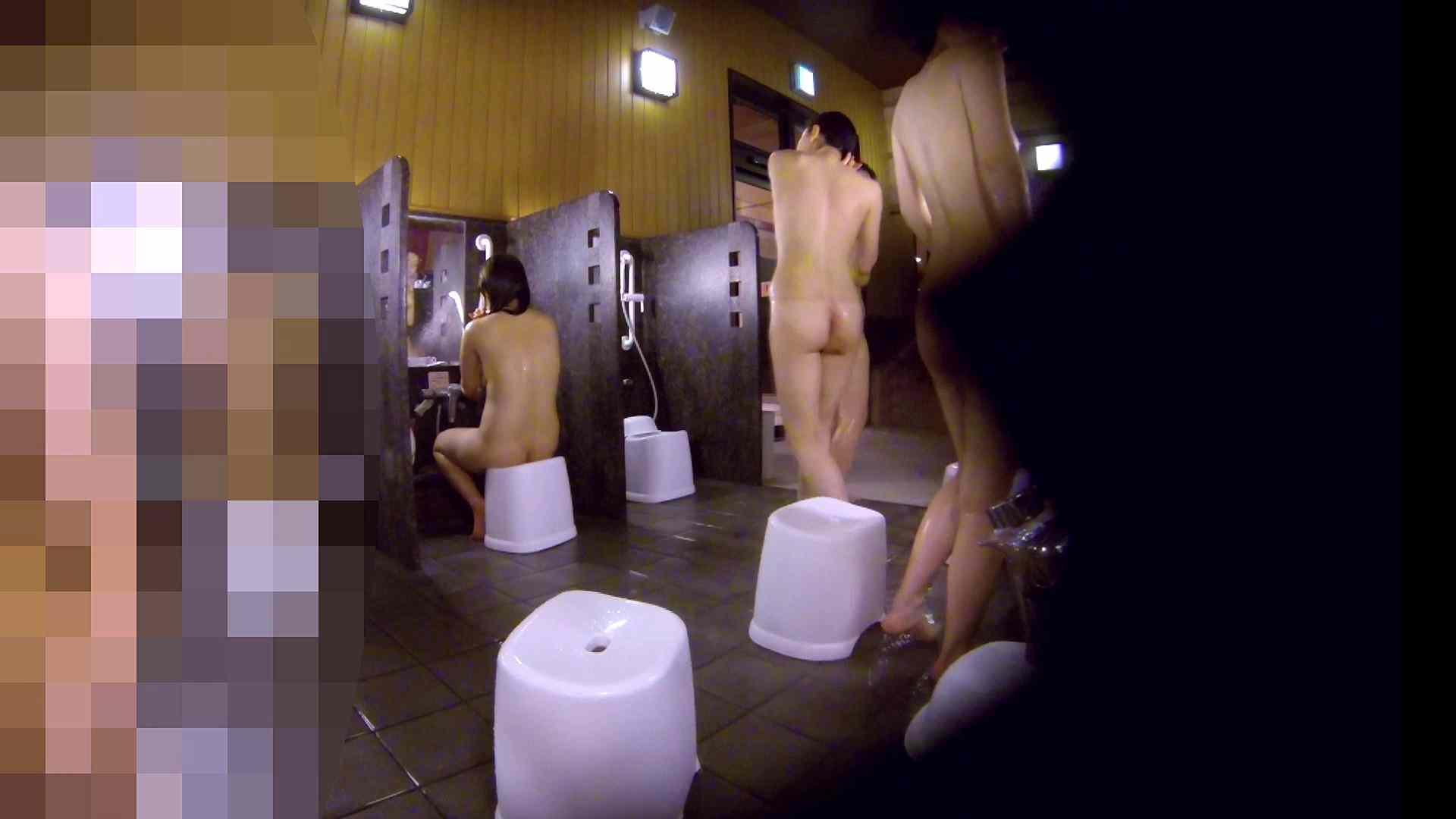 洗い場!眉しっかりの和風美人、奥の嬢も気になります! 美乳 すけべAV動画紹介 111画像 25
