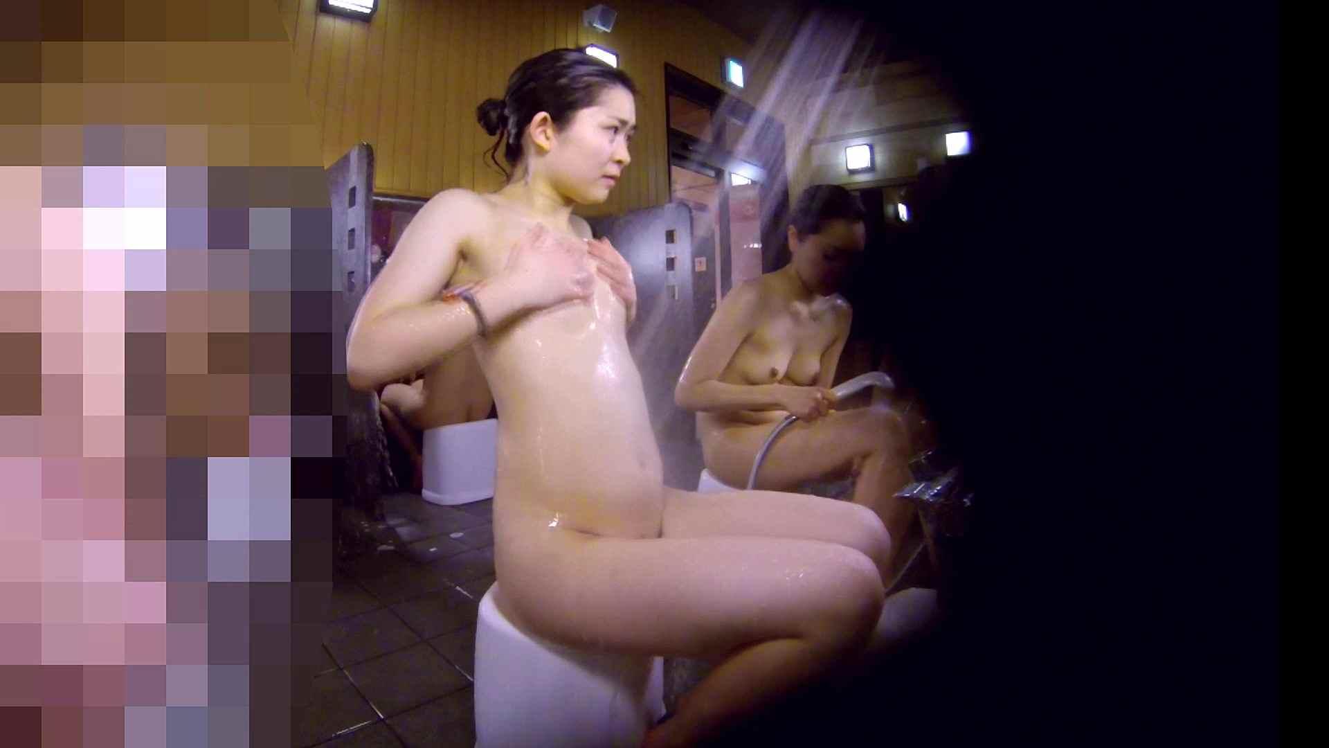洗い場!眉しっかりの和風美人、奥の嬢も気になります! 女湯  111画像 42