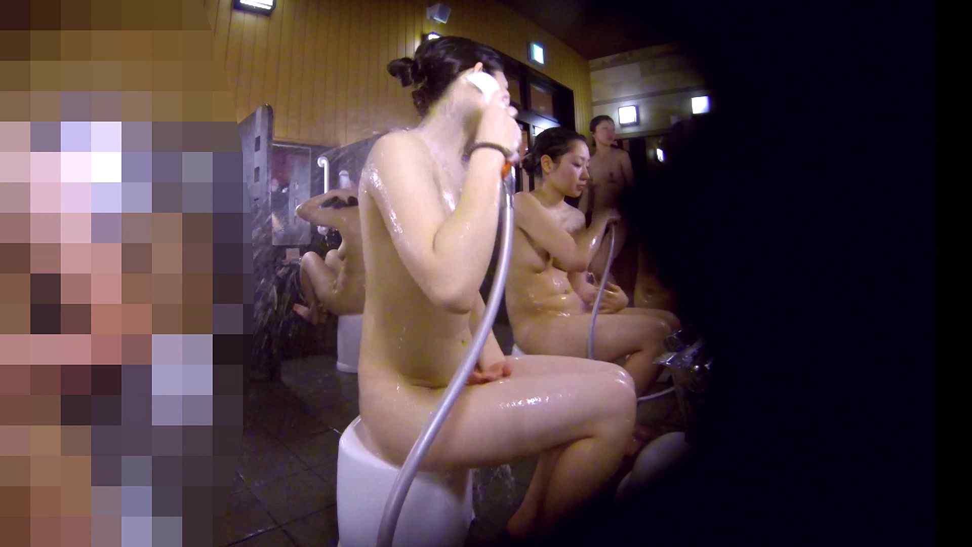 洗い場!眉しっかりの和風美人、奥の嬢も気になります! 美乳 すけべAV動画紹介 111画像 88