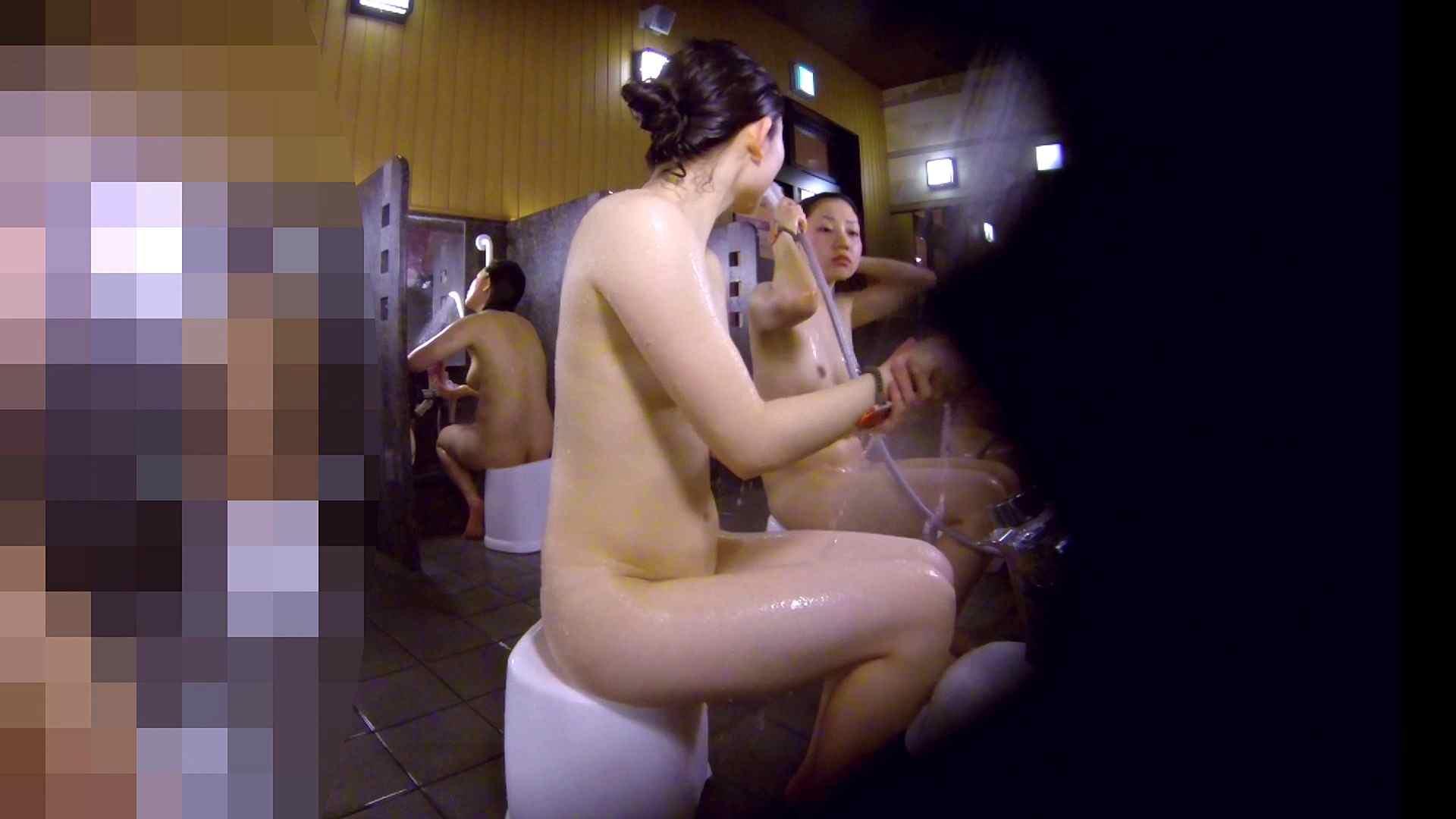 洗い場!眉しっかりの和風美人、奥の嬢も気になります! 美乳 すけべAV動画紹介 111画像 109