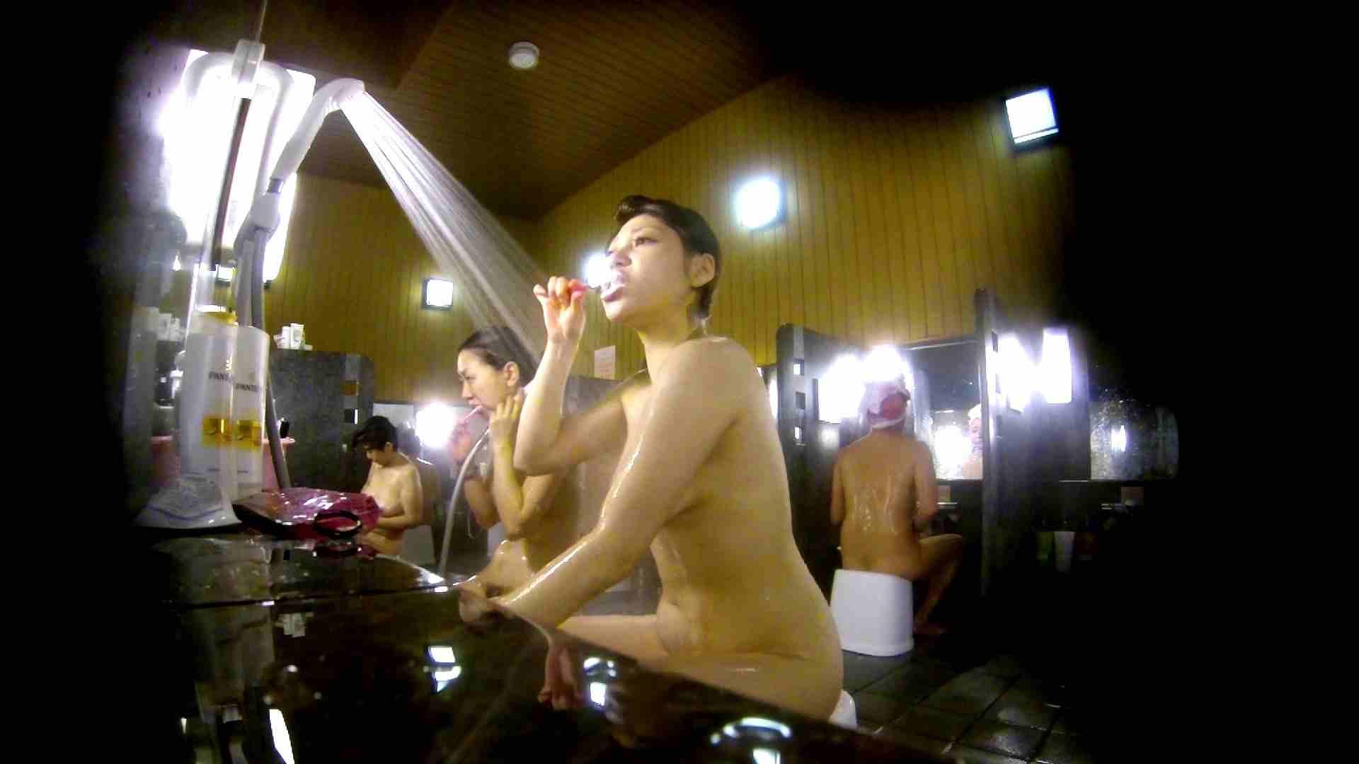 洗い場!柔らかそうな身体は良いけど、歯磨きが下品です。 潜入 | 女湯  107画像 36
