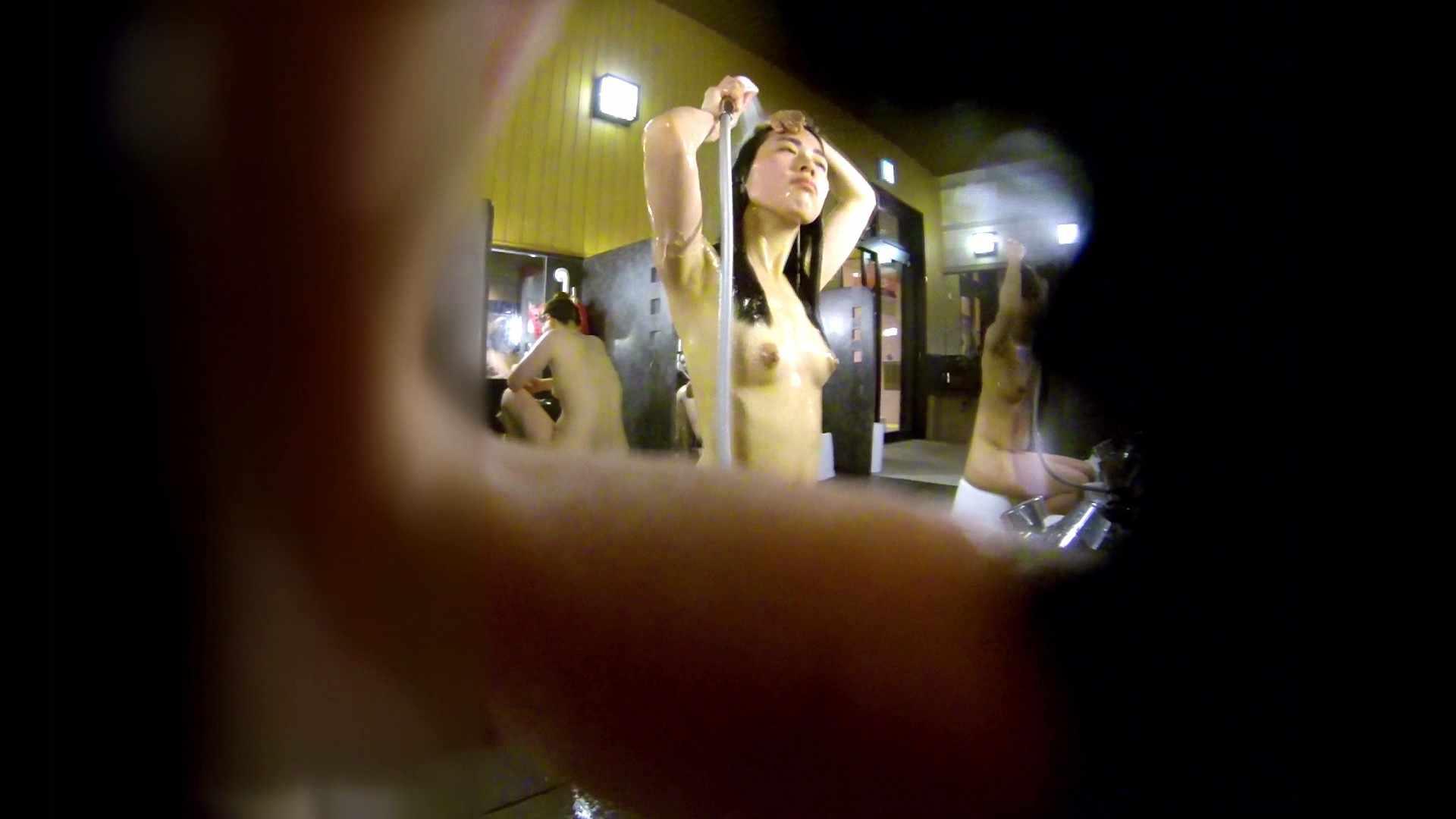 洗い場!ハッキリとした顔立ちとハッキリとした高低差の乳輪 桃色乳首   美肌  75画像 1
