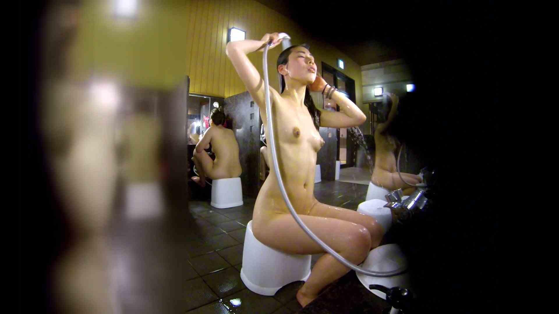 洗い場!ハッキリとした顔立ちとハッキリとした高低差の乳輪 細身女性 オマンコ動画キャプチャ 75画像 3