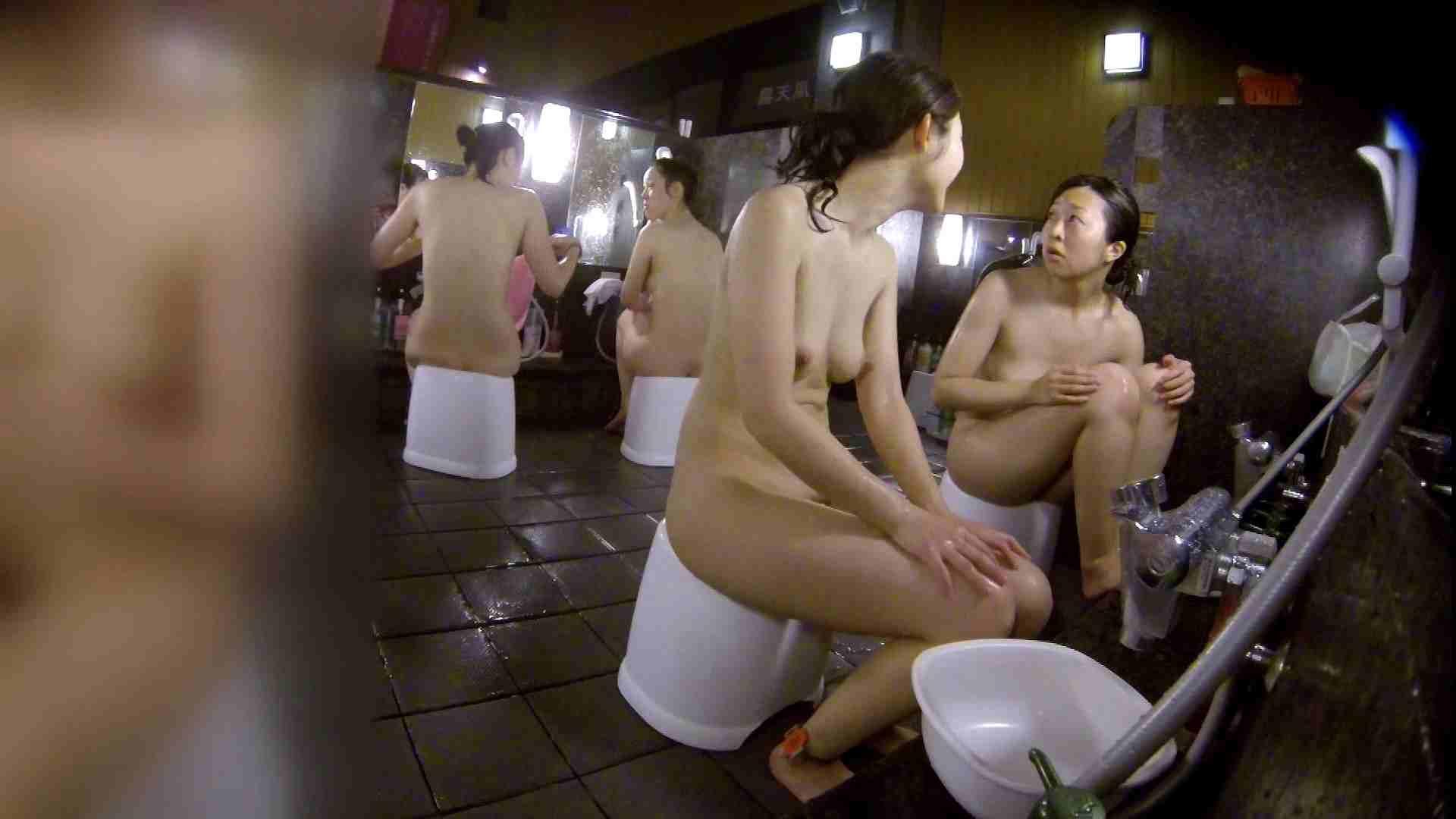 洗い場!地味目の女の子2人組。ずっと話しながら洗ってます。 細身女性 ヌード画像 52画像 11